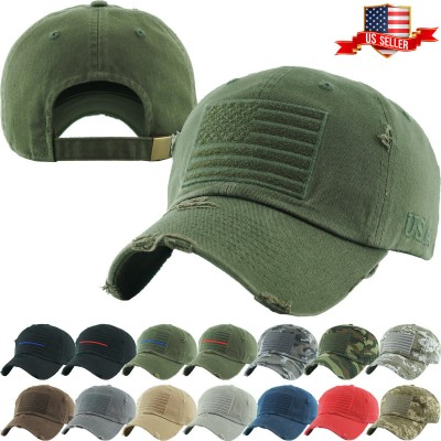 Tactical Operator Hat Special Forces USA Flag Army Military Patch Cap  eb-88566787