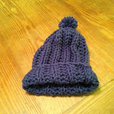 Chunky crocheted extreme slouchy pom pom hats. Can also be worn with the brim lo  eb-47142551