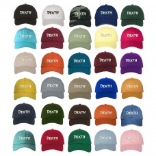 DEATH Dad Hat Embroidered Low Profile Cadaver Cap Hat  Many Colors  eb-24583754