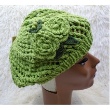 Mujer Summer Spring Winter Crochet Knit Slouchy Cap Hat Light Green  eb-27765884