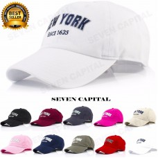 NEW New York Adjustable 100% Cotton Polo Style Baseball Cap Caps Hat One Size  eb-78151610