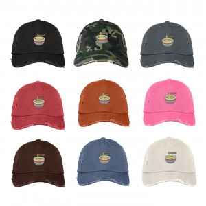 RAMEN Distressed Dad Hat Embroidered Cuisine Noodle Soup Cap Hat  Many Colors  eb-88112834