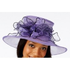 August Hats Mujers Formal Wear Midbrim Dress Hat  Purple  One Size eb-79461840