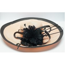 Fine Millinery Collect by August Hat Comp Mujer Church Dress Peach/Black UA45/5  eb-57416175