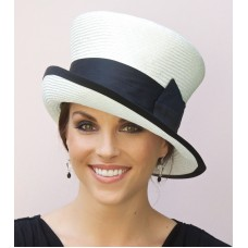 Wedding hat  Church Hat Mujer's Black & White Hat Mad Hatter Cloche tailored hat  eb-77243333