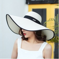 Fashionable Beach Sun Hat Foldable Wide Brim Summer Hat Mujer's Floppy Straw Hat  eb-11664756