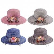Floppy Hat Wide Brim Mujer Folding Summer Beach Sun Straw Panama Travel Cap New  eb-54345667