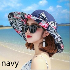 Lady Wide Brim Bucket Hat Floral Thin Bowknot Reversible Foldable Sun Beach Cool  eb-44603511