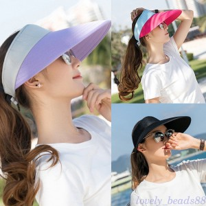 Adjustable  Visor Sun Hat Sports Golf Tennis Beach Wide Brim AntiUV Cap  eb-51229517