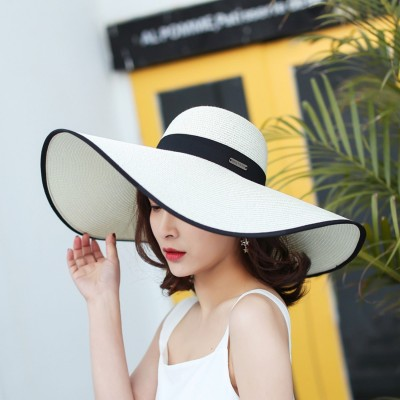 Casual Acation Wide Brim Straw Hats AntiUV Sun Hats 2018 New Summer Caps  eb-13566450