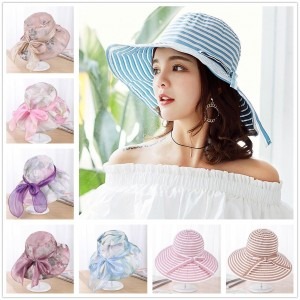 Summer Sun Beach Hats Foldable Roll Up Wide Brim Lady Visor Hat Cap @New  eb-39196347