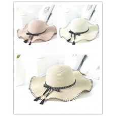 Mujer Summer Wide Brim Beach Sun Hats Foldable Floppy Travel Dress Cap Newest  eb-78337419