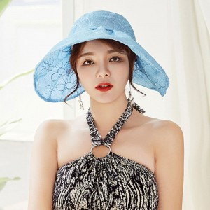Floral Sun Hats Ruffled Adjustable Wide Brim Caps Foldable Outdoor Hot  eb-45603303
