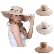 Mujer's Packable Floppy Brim Sun Hat Sun Visor Crushable Beach Straw Derby Hat  eb-90629433