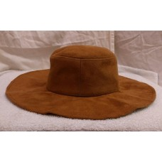 NWT CHICO'S Western Whisper Wide Brim Hat neutral brown womens casual suede look  eb-56207340