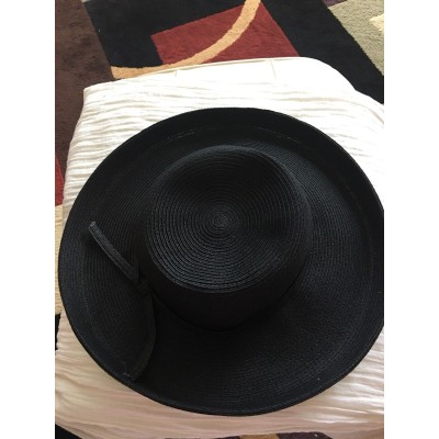 San Diego Hat Co 's  Wide Sun Brim Black Hat Paper Or Paper poly Cotton  eb-44165691
