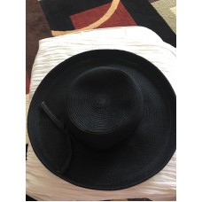 San Diego Hat Co Mujer's  Wide Sun Brim Black Hat Paper Or Paper poly Cotton  eb-95103220