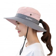 BEST Mujer Outdoor UV Protection Foldable Cap Mesh Wide Brim Beach Fishing Hat 711181893595 eb-37859824