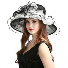 MissCynthia Mujer's Organza Church Derby Fascinator Cap Kentucky Tea Party Weddi 761560718667 eb-69527107