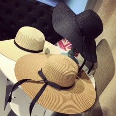 Mujer Boho Wide Brim Straw Hat Girl Outdoor Anti UV Cap Summer Accessories Gift  eb-05124888