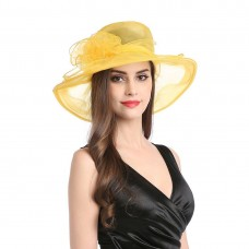 Mujer's Organza Church Derby Fascinator Cap Kentucky Tea Party Wedding Hat 712217365987 eb-32543561