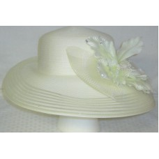 Mujers Hat Wide Brim Studded Bow August Church Derby  eb-01733774