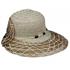 Silver Fever ® Mujer Summer Fancy Sun Hat Fits All Tan & Khaki 714983289092 eb-89495119