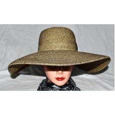"Milani Designed in Italy Brown & Beige 5.5"" Floppy Wide Brim Sun Hat One Size   eb-97187372"