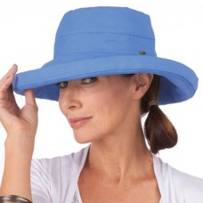 Mujer's Protective Big Brim Cotton Hat  Periwinkle Blue 16698286831 eb-06805387