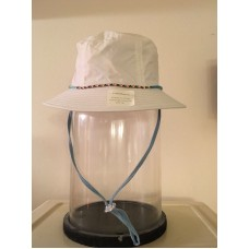 NEW UPF 50+ Sun UV protection Brimmed Hat  White w/drawstring Croft & Barrow  eb-17368417