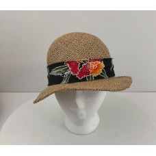 Panama Jack Mujer's Vintage Sun Hat Front Wide Brim Bow One Size  eb-93288292