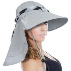 Sun Blocker Mujer's Sun Hat Large Brim Beach Travel Fishing Hat with Neck Flap 742010035763 eb-76837279