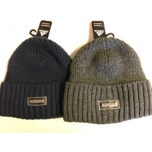 Adidas 's Winter Hat Beanie Ski Knit Climawarm Blue or Gray Retail $24.00  eb-06879053