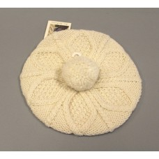 Blarney Mujer's Hand Knit Tam Wool Hat GG8 Natural One Size NWT  eb-74811989