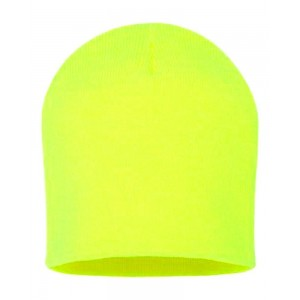 Fluoescent Neon Yellow Beanie Knit Stocking Cap Winter Hat High Visibility  eb-54331630