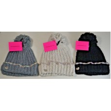 NWT BETSY JOHNSON SPARKLY BEJEWELED BEANIE W/ POM POM BJ2170 3 COLORS AVAILABLE  eb-85458451