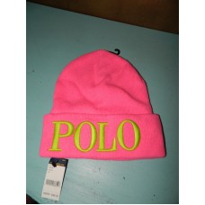 Ralph Lauren Polo Knit Beanie Hat Pink One Size $48  eb-99486838