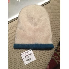 Shupaca Alpaca Blend Off White/Blue Beanie Winter Hat  Made in Ecuador NEW  eb-56009925