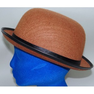 Bowler Derby Hat Brown Felt Costume New  eb-92941465