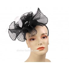Mujer's Church Hat  Derby hat  Fascinator  Black  White  HL43  eb-45778184