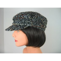 Unisex Black with Colors Wool Blend Newsboy Hat Cap s s MINT NWOT  eb-78780927