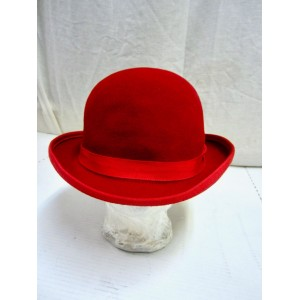 vintage 100% Wool Derby hat  Red  Designer brand  L  eb-40136376