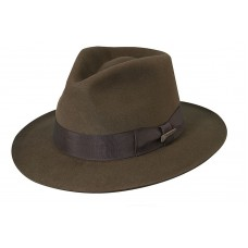 AUTHENTIC New Dorfman Pacific Indiana Jones Wool Felt Brim Fedora Hat IJ554  eb-08444435