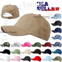 Cotton Hat Baseball Cap Adjustable Washed Style Plain Blank Visor Hats Caps Dad  eb-89887464