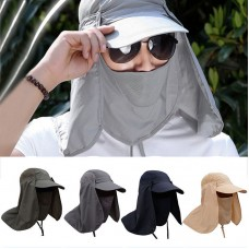 Fishing Hiking Hat Outdoor Sport UV Sun Protection Neck Face Flap Cap Wide Brim  eb-90411364
