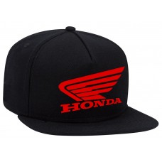 HONDA Motor Adjustable Snapback Flexfit Black Wool Baseball Flat Visor Cap NEW  eb-57577531