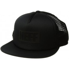 NEFF Corpo Trucker Hat Cap Black Charcoal One Size NEW snapback  eb-53218140