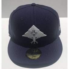 NEW ERA X LRG Lifted Research Group 59fifty Hat Fitted 7 1/4 Cap Trees Navy Blue  eb-21540838