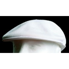 New Kangol Tropic 504 All White Kangaroo Golfer's Flat Cap Hat  Size XL XLARGE  eb-68759409