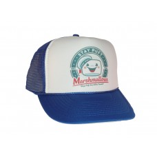 Stay Puft Marshmallows hat Trucker Hat Mesh Hat royal blue Ghostbusters movie  eb-37475383